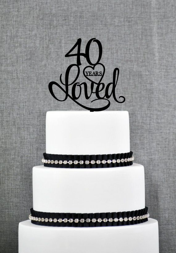 774 Best Cake Toppers Images On Pinterest Tiered Cakes Wedding - Ruby Wedding Cake Toppers