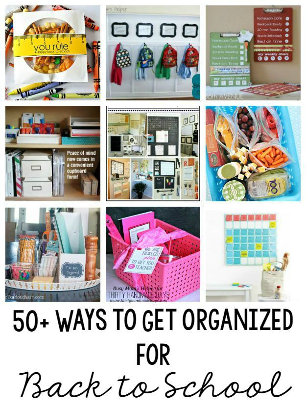 50+ Ideas to Get Organized for Back to School / by Busy Mom's Helper for Thirty Handmade Days