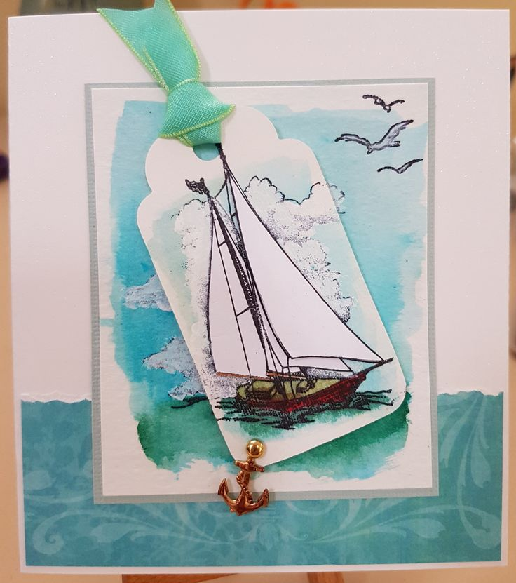 Yacht G1479 by PSX. Card by Susan of Art Attic Studio - inspired by pinterest
