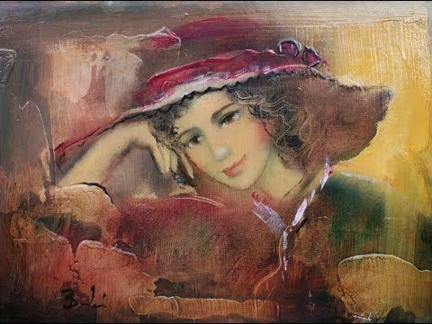 BUDAI LÁSZLÓ (1965) Hungarian painter & FRANCIS GOYA / Romantic guitar