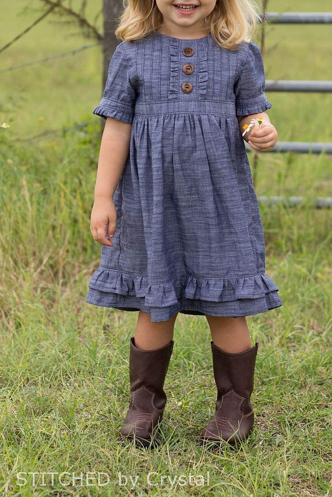 STITCHED by Crystal: Sweet Lily Chambray Dress