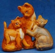 Cat Family Christmas Nativity Animal Figurines