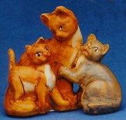 Cat Family Christmas Nativity Animal Figurines