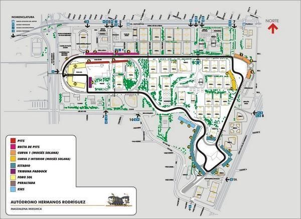 Circuito Hermanos Rodríguez: la antigua Peraltada ahora se llama Nigel Mansell #Formula1 #F1 #SingaporeGP
