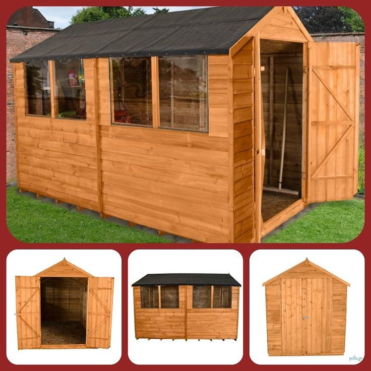 garden workshop shed storage unit summer house wooden timber wwindows large