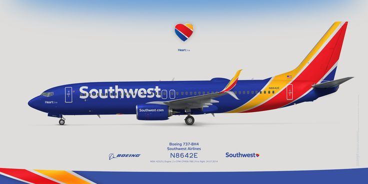 Boeing 737 800ng Southwest Airlines New Livery Www