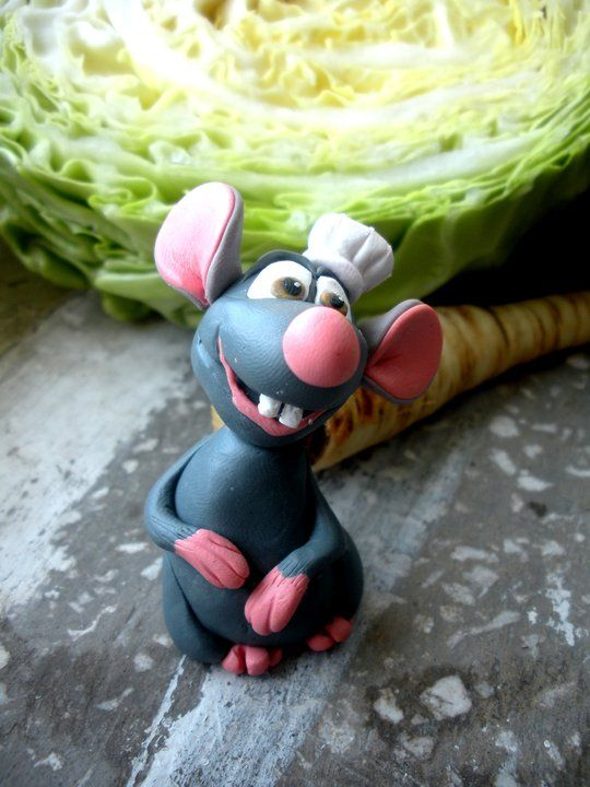 Ratatouille fimo sculpey polymer clay. I want to make all the Pixar characters!