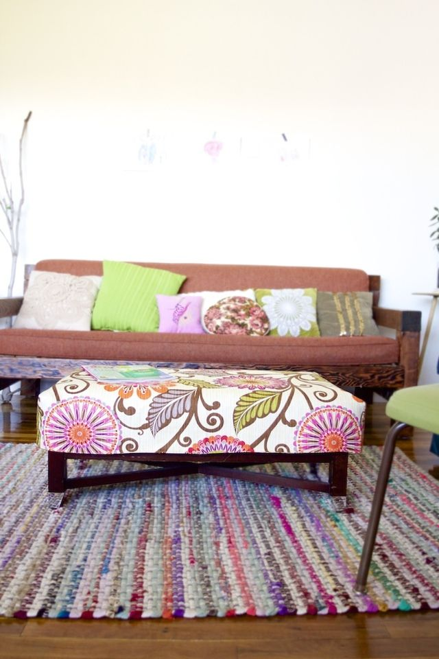 Simple Ottoman Cover Tutorial! (With JoAnn's and HGTV ...