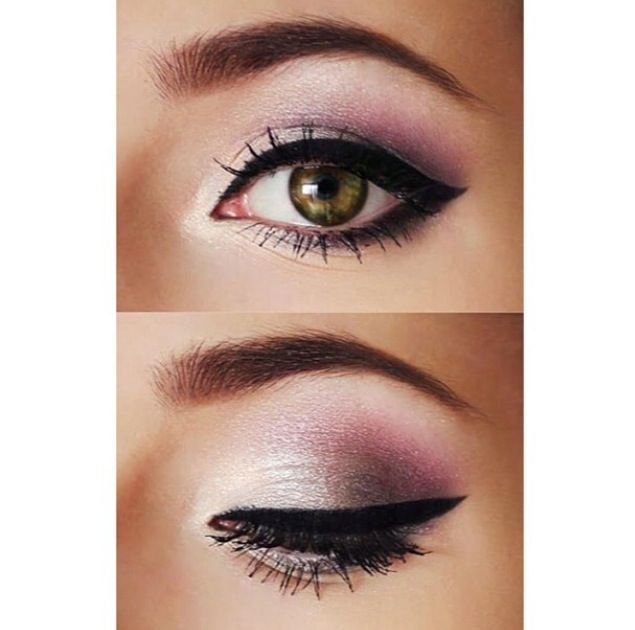 Pretty Purple Eye Makeup For Brown Eyes. | Make-up | Pinterest | Summer Wedding Makeup And Brushes