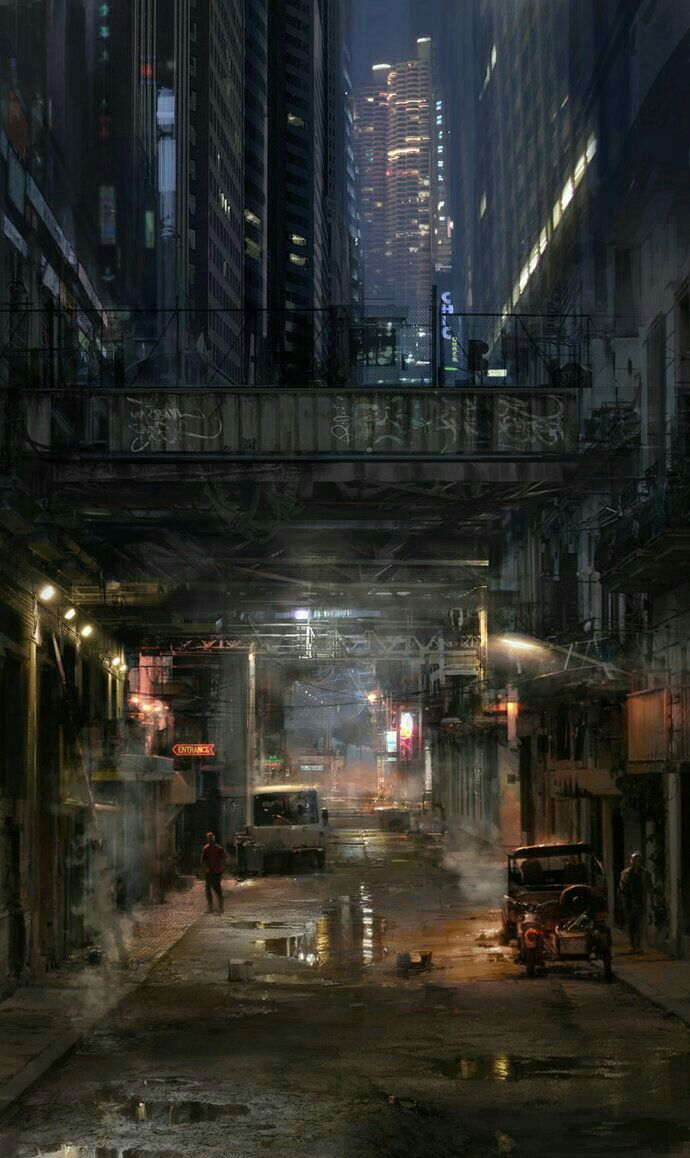 sci fi city / dystopian / digital srt