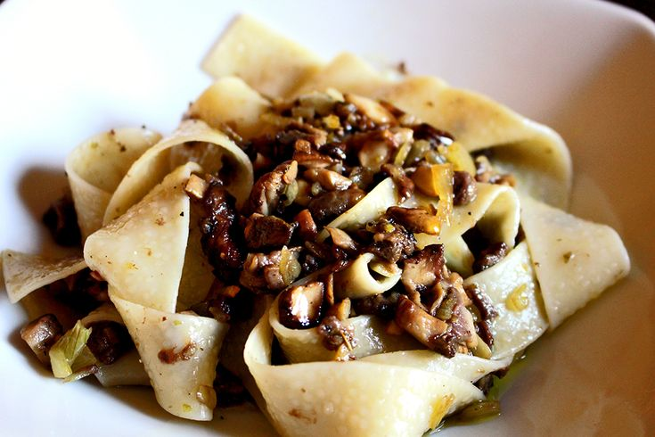 Top 5 Mushroom Recipes - Pappardelle with fresh Porcini mushrooms