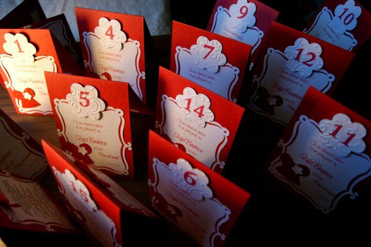 Meniuri si carduri de masa pentru micuta Sofia