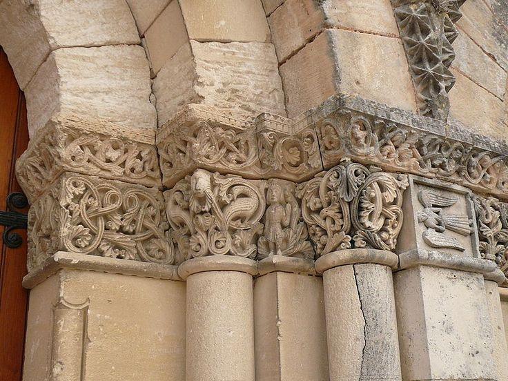 St Martin's Church, Gensac-la-Pallue has capitals with elaborate interlacing.