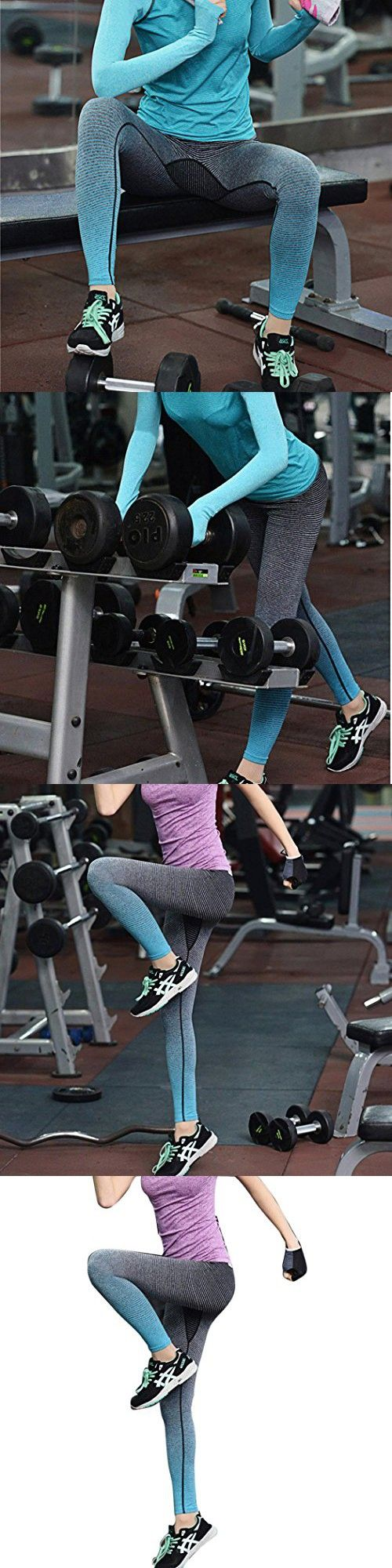 Hot Sale! Women Sport Leggings,Canserin Women's Running Yoga Stretch Pants Sports Fitness Gym Trousers Exercise Leggings (M, Blue)