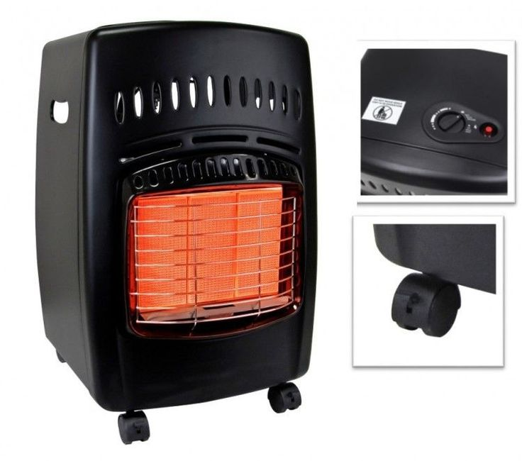 Portable Propane Gas Heater Rolling 18000 BTU Heating Ignition Carry Handles New #PerfectHomeSavings