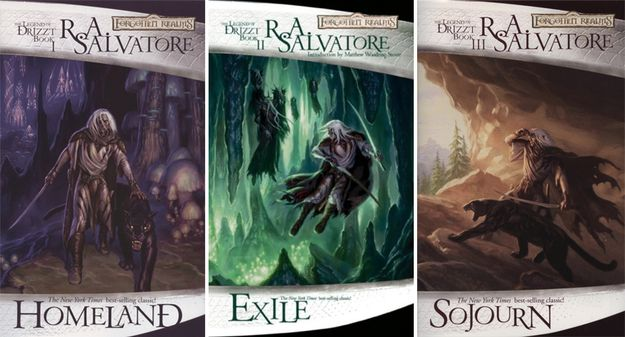 The Dark Elf Trilogy by R.A. Salvatore Although The Dark Elf Trilogy was originally written as a prequel trilogy to another series, the popularity of the protagonist, a dark elf named Drizzt Do'Urden, has made this the stand-out series among all the D&D books out there. If you're a fan of the world of Dungeons & Dragons, or just need a fix between play sessions, look no further.