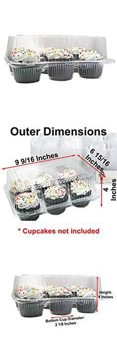Plastic Boxes For Sale. Katgely 6 Cavity Cupcake Containers with Deep Dome (Pack of 50).  #plastic #boxes #for #sale #plasticboxes #boxesfor #forsale