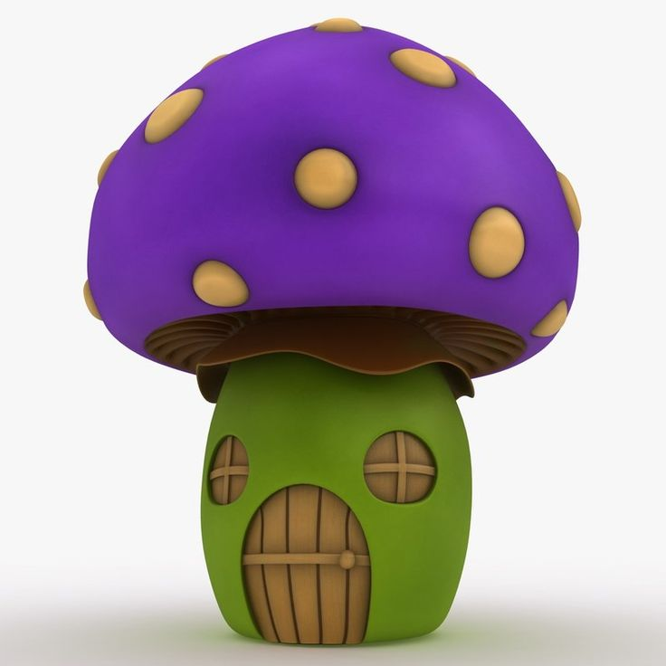Mushroom House Purple 3Ds - 3D Model