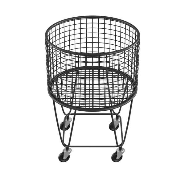 Litton Lane New Traditional Iron Wire Storage Basket Black In