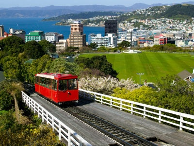 Wellington cable car - you can ride it up to the botanical gardens