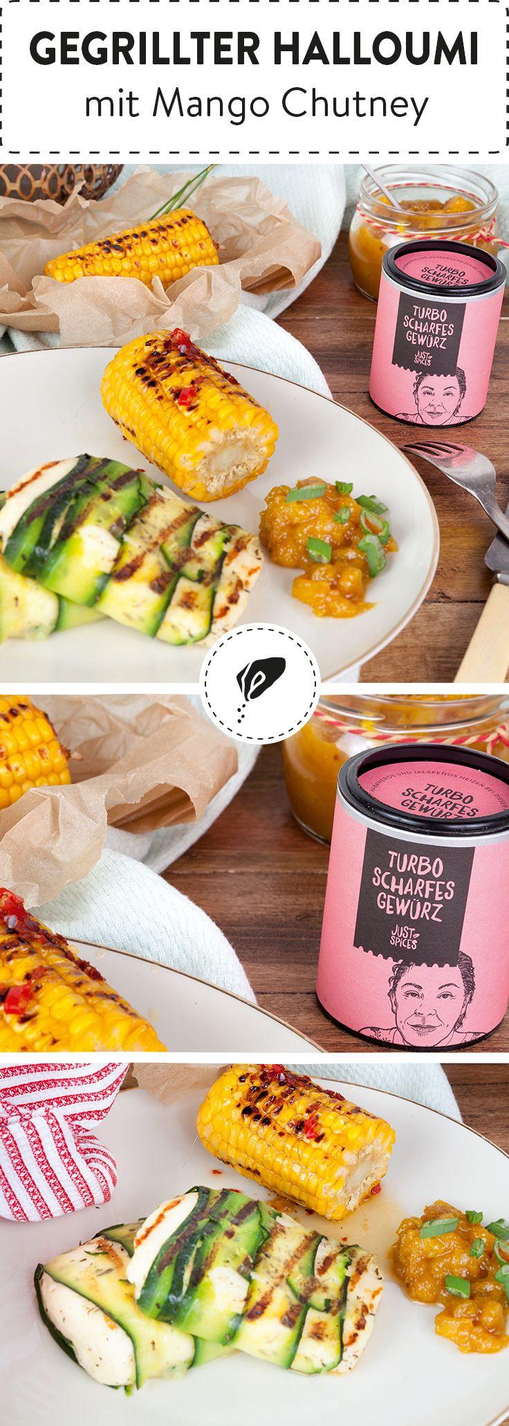 Du hast Lust auf vegetarisch? Dann probiere doch mal unseren gegrillten Halloumi mit fruchtigem Mangochutney aus! Der halbfeste Käse eignet sich perfekt zum Marinieren und Grillen.