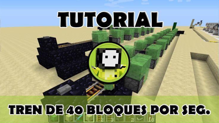 Tutorial Minecraft  Transporte de 40 bloques por segundo
