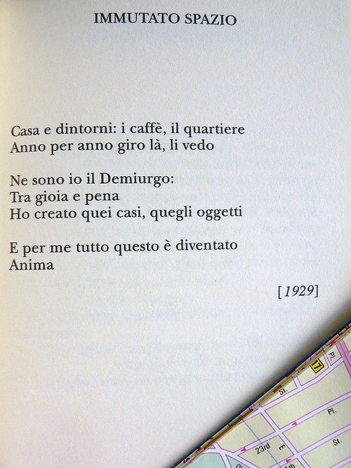 Constantinos Kavafis, Immutato spazio - Traduzione di Guido Ceronetti