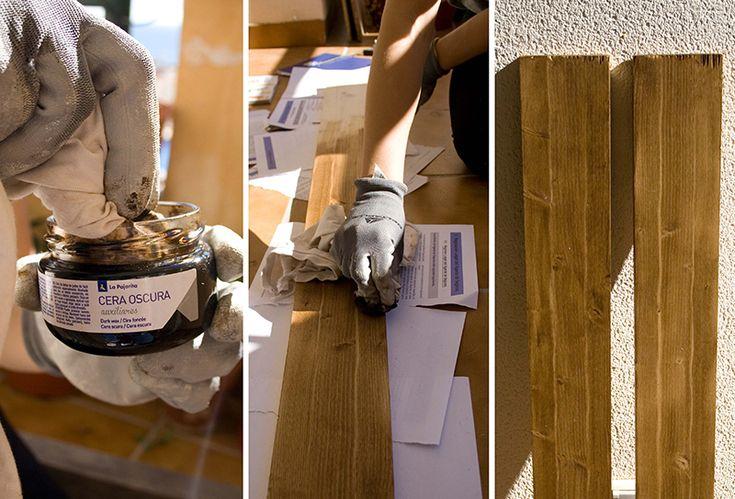Mesa de café reciclada con Pallets - Acabado Epoxi - Ebom