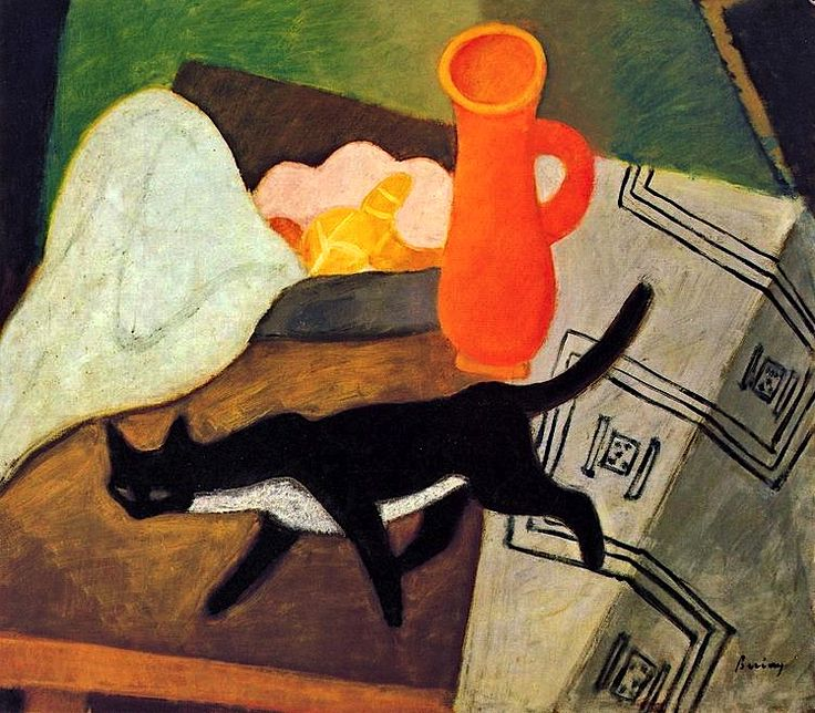 Berény, Róbert Black cat
