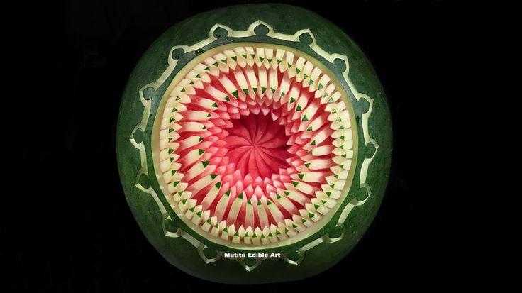 Watermelon Carving Flower | Pencil Pattern