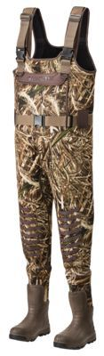 LaCrosse AeroTuff Insulated Boot-Foot Waders for Men - Realtree MAX-5 - Medium - 8