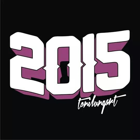 Happy new years 2015 typography by tonilung art follow twitter: @ctonilungart @CreativePhotoID