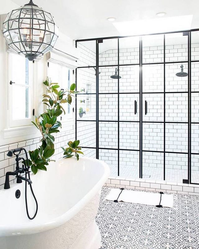 Four outdated bathrooms get much-needed 2016 makeovers (and they're all in the same house)! See them all via the link in our bio. #SOdomino Photo by @hellodianamarie, design by @lifestyle_la #interiorinspo #bathroomdesign