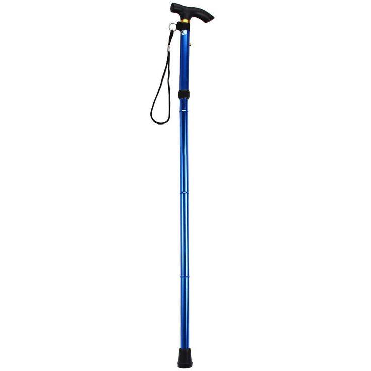 5 Colors Adjustable Aluminum Hiking Walking Stick Folding Walking Stick Mountain Walking Stick With Non-slip Rubber Base