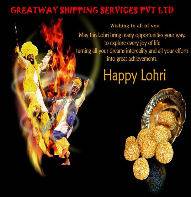 Greeting from Greatway Shipping Services, wishing you  a fun filled Lohri.. Happy Lohri
