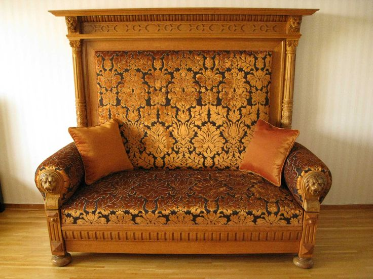 New Renaissance sofa after upholstering New springs in