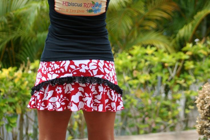 "Hawaiian Original Running Skirt  "" 'ula'ula (red) "". $49.00, via Etsy."