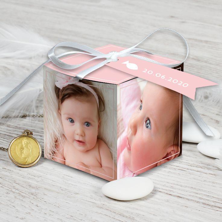 Boite de dragées baptême à l'image de votre fille pour un joli souvenir qui charmera vos proches, ref N34033