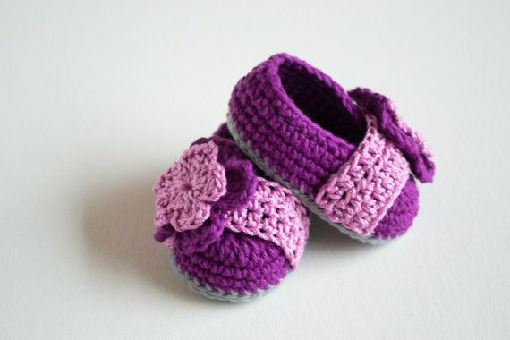 Crochet Baby Booties Berry Booties by Croby Patterns