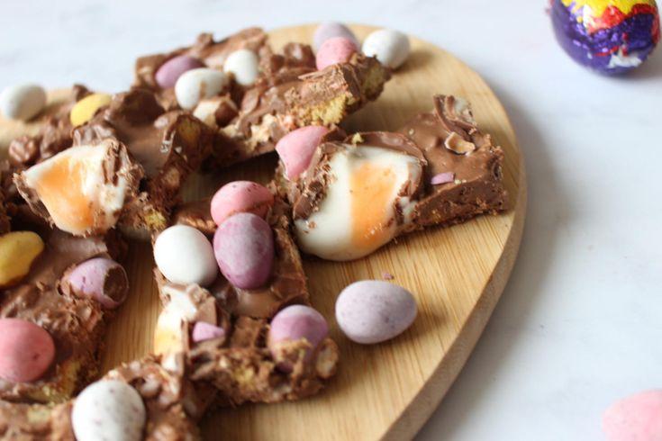 Super simple No Bake Easter Rocky Road recipe.