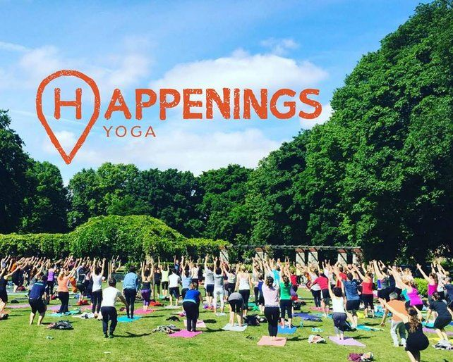 Taking Yoga outdoors, Happenings is n hour long Yoga class set in a Ranelagh