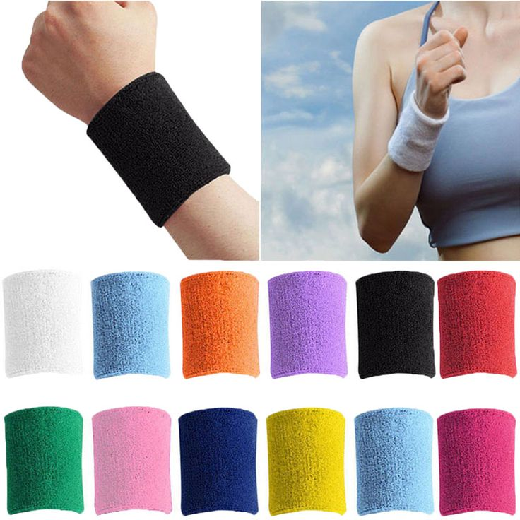 Men & Women Sports Sweatband Terry Cloth Wrist Sweat Bands Tennis Squash Badminton Basketball Wristband Gym Crossfit Wrist Wraps #clothing,#shoes,#jewelry,#women,#men,#hats,#watches,#belts,#fashion,#style