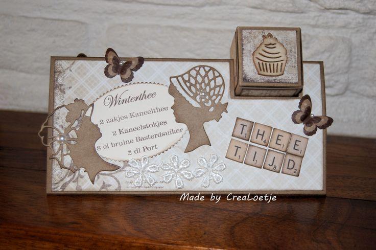 Kadoosje winterthee. Kijk ook eens op mijn blog www.crealoetje.blogspot.nl