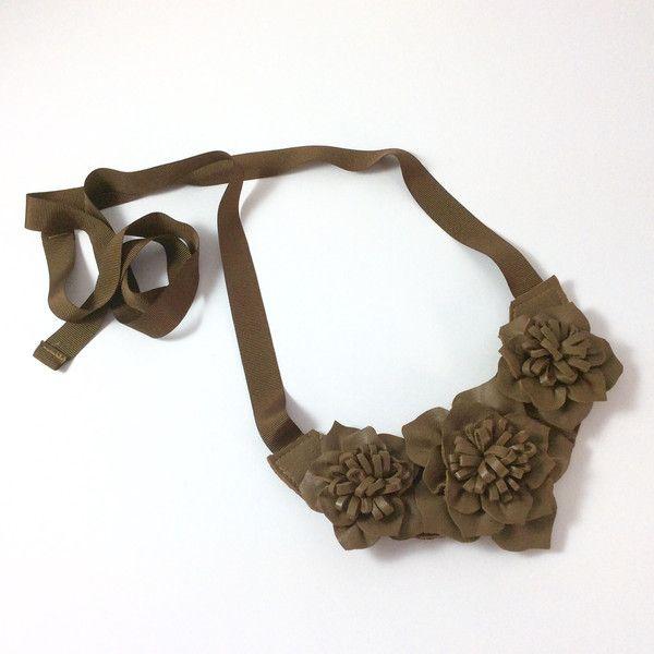 Statement Ketten - Lederkette braun - ein Designerstück von samesame-butdifferent bei DaWanda