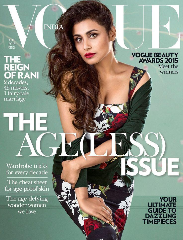 Rani Mukerji for Vogue India August 2015   Art8amby's Blog