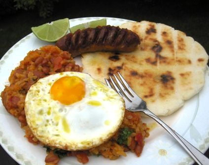 Calentado or Traditional Colombian Breakfast