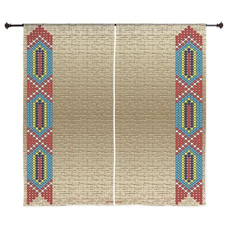 "Indian Beadwork 60"" Curtains on CafePress.com"