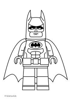 Coloring page for kids LEGO BATMAN from The LEGO BATMAN