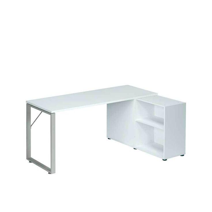 Büro Schreibtisch Mit Regal Weiß Jetzt Bestellen Unter: ...