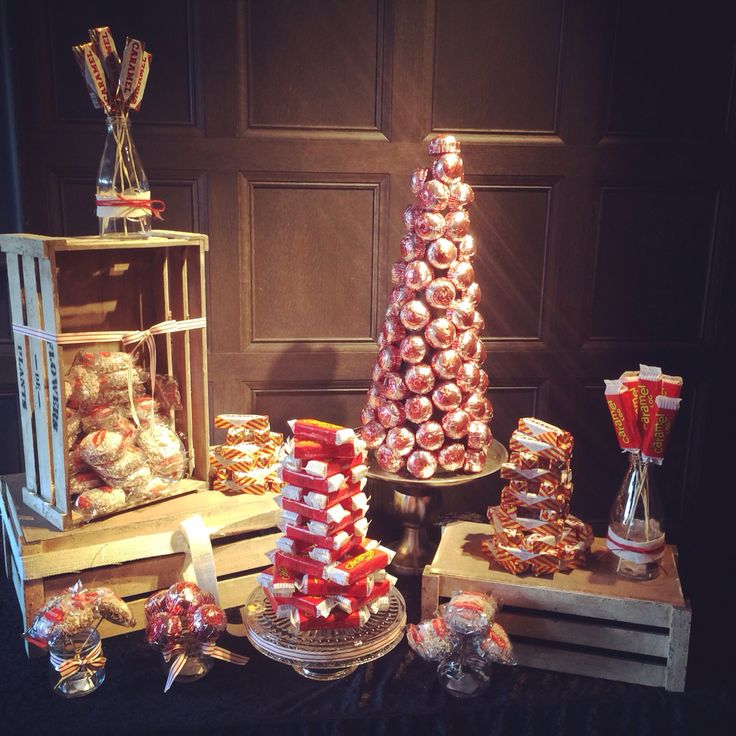 Tunnocks desert table. Scottish wedding theme idea. From The Guilty Pleasures Cake Company.